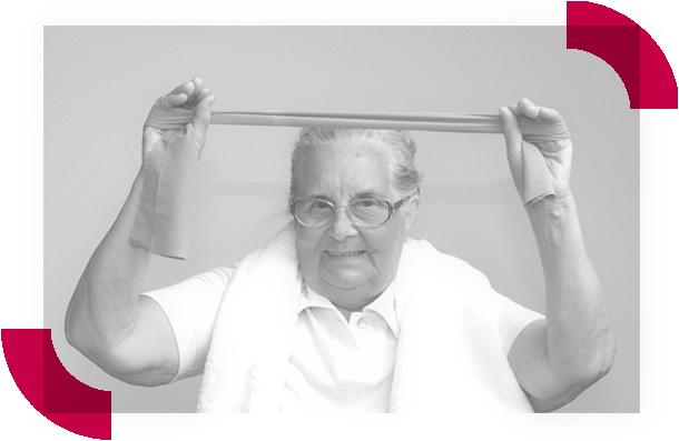 Senioren turnen im Fitnesscenter